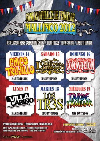 Fondas Mallinco 2012  - 14, 15, 16, 17, 18 y 19 de Septiembre