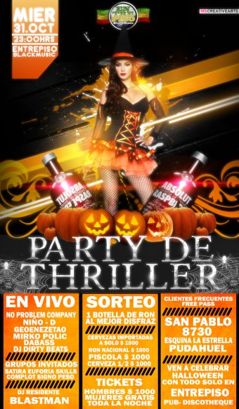 PARTY THE THRILLER, Entrepiso BlackMusic
