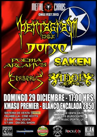 Metal Chaos, Chile Fest 2013 en Club Kmasu