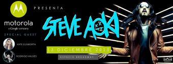 Motorola Fest presenta a Steve Aoki en Chile, Espacio Broadway