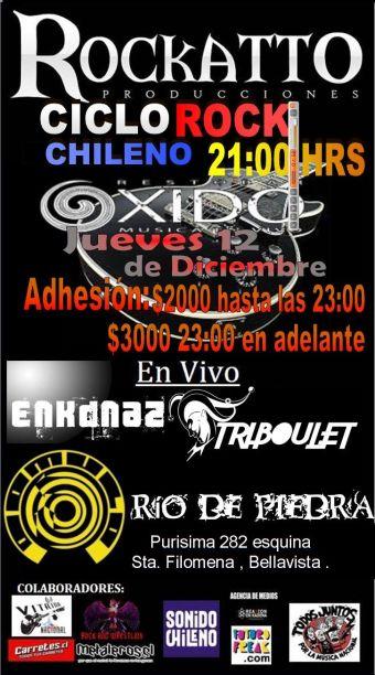 Ciclo del Rock Chileno en Bar Oxido