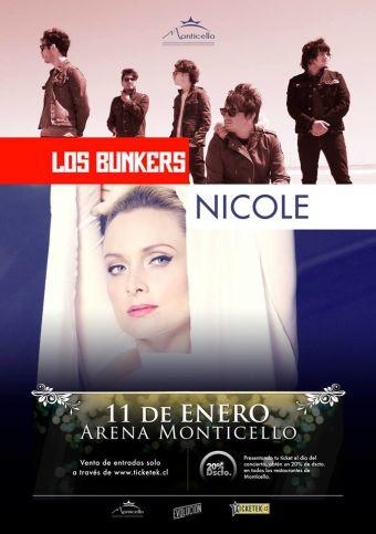 Los Bunkers y Nicole en vivo, Arena Monticello