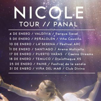 Nicole en concierto por Chile