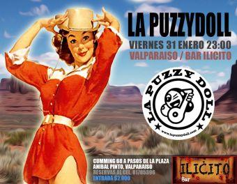 La Puzzydoll en Ilícito Bar, Valparaíso