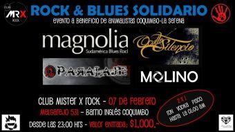 Rock & Blues Solidario en Club Mister X Rock