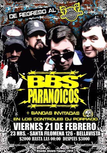 BBS Paranoicos en Bar Santa Filomena