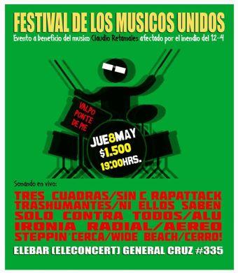Festival de los Músicos Unidos en Ele Bar, Valparaíso