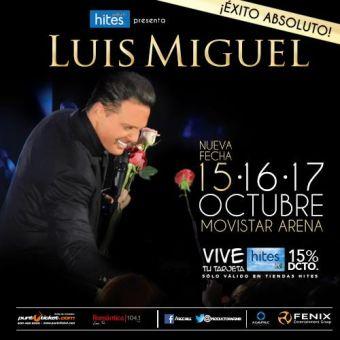 ¡Suma nueva fecha! Luis Miguel en Chile, Movistar Arena