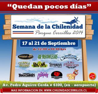 Semana de la Chilenidad en Parque Cerrillos - 17 al 21 de Septiembre
