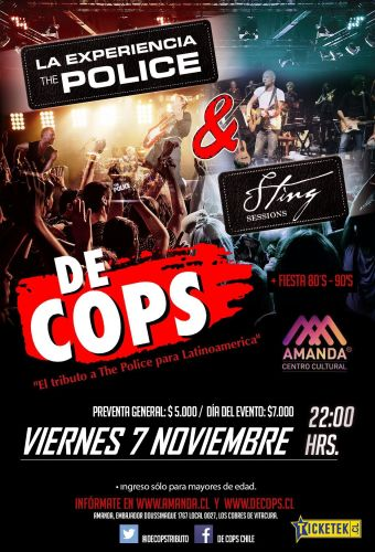 De Cops: tributo The Police & Sting, Amanda