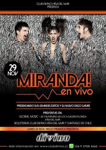 Miranda! en concierto, Club Divino - Viña del Mar