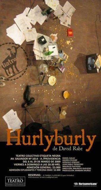 Hurlyburly en Teatro Colectivo Etiqueta Negra - Desde el 6 de Marzo