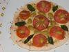Pizzeta capresse de pan árabe