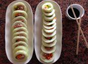 Cómo hacer Pepino en forma de Sushi