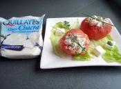 Cómo preparar Tomates rellenos con Queso Chacra y Kanikama
