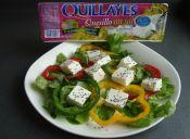 Cómo preparar 2 ensaladas con Quesillo sin sal