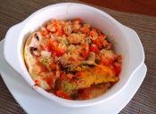 Prepara huevos fritos con mixing de vegetales