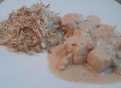 Prepara pollo en salsa de yogurt