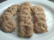 Preparar galletas integrales de queso y jamón
