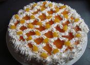 Decoración para torta: espejo de mermelada
