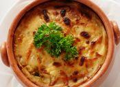 Moussaka de berenjenas y queso mozzarella