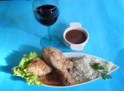 Receta: Pollo al vino tinto