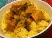 Cous cous con curry de zapallo
