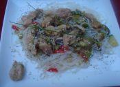 Fideos chinos: Chow Mein con pollo