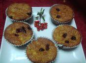 Muffin de plátano y arándanos
