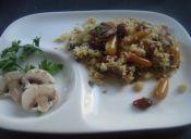 Cuscús con champiñones y frutos secos