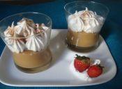 Postres: Crema de manjar con merengue