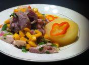 Ceviche de reineta con mango