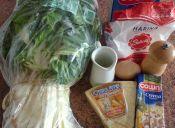 Receta: Panqueques rellenos de acelga, crema y queso parmesano