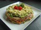Recetas para diabéticos: Torta integral de panqueques y verduras