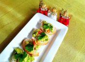 Appetizers navideños: pancitos con guacamole