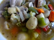 Receta: Sopa de champiñones y verduras