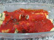 Cómo preparar Canelones rellenos con Pollo y Espinacas