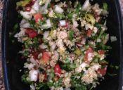 Cómo preparar Pebre con quinoa