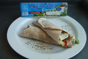 Prepara wraps con quesillo para un almuerzo light