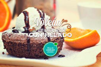 Prepara un delicioso Volcán de chocolate con helado