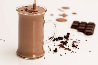 Smoothie de chocolate y menta
