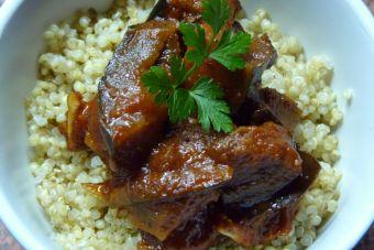 Prepara un curry de berenjena