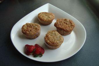 Prepara muffins de manzana y zuchinni (zapallo italiano)