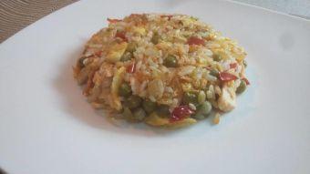 Cómo preparar arroz frito con salmón
