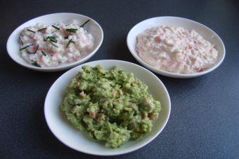3 salsas con Kanikama
