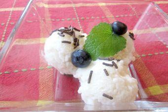 Cómo preparar helado de arroz con leche