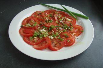 Prepara carpaccio de tomate