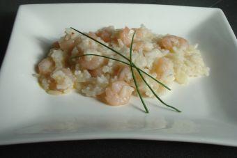 Prepara un risotto camarón