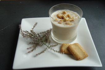 Prepara un granizado de galletas con crema