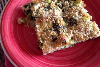 Cómo hacer pastel de espinacas con quinoa